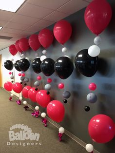 No matter what kind of event you're hosting in the Seattle area or other, professionally created balloon decor can always … Big Balloons, Custom Balloons, Red Balloon, Balloon Wall, Wedding Balloons, Balloon Bouquet, Casino Theme Parties, Grad Parties, Birthday Parties