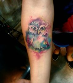 #owl #watercolorpainting #watercolor #love #paint #color #girl #franltattoo #bird #art #tattoos #tattoo2me ##tatuagem #aquarela #coruja #electricink #everlast #ink