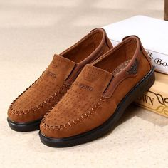 Big Size Men Old Beijing Style Fabric Breathable Flat Slip On Casual Shoes - NewChic