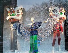 Chinese New Year-themed Bergdorf Goodman window display