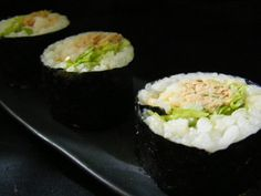 Spicy Tuna Salad Sushi  Drop the rice great on a bed of lettuce and use sushi raw tuna