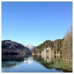 FUSSEN, GERMANY: The lake behind Neuschwanstein Castle