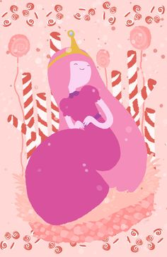 Adventure time. Princess Bubblegum Print