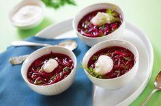 Nearly raw beet borscht - sounds good to me! photo by Hannah Kaminsky