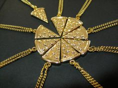 cheesy pizza friendship necklace.