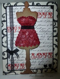 Valentine Mannequin Card by Lisa Greening using Tim Holtz Alterations