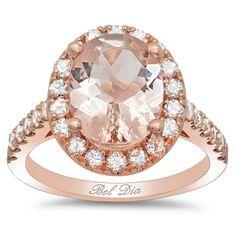 deBebiansfine jewelry Morganite Rose Gold Art Deco Engagement Ring  Regular price: $3,770.00 Sale: $1,885.00