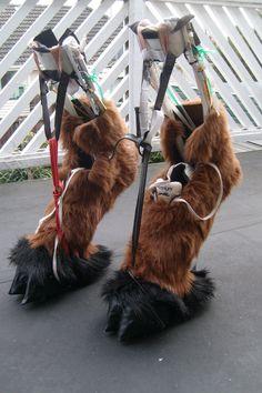my hoof stilts by MonstrositiesNZ