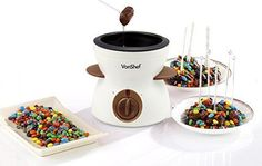 Electric Fondue Set - Chocolate Cheese Includes Pot, Spatula, Forks & Skewers #None