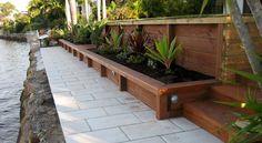 treated pine timber retaining wall
