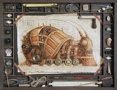 Steampunk Snail -- Towns rose and fell along the slime trail to the Far West...
