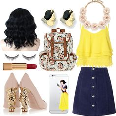 Snow White look🐦🌻🐞