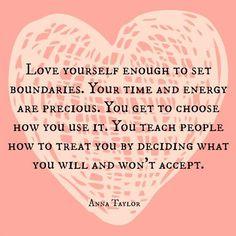 Love Yourself Enough #boundaries