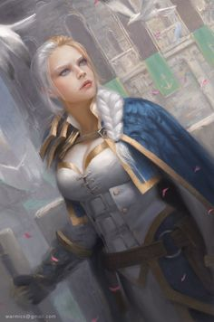Fanart - Jaina Proudmoore by Warmics -- I LOVE this -- she looks like a real person