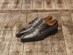 REHAB Marino Croco Smoke #rehabfootwear #classiccollection #marino #crocoprint #comfort #handmade #classic #smoke