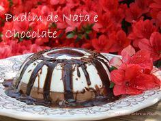 Tentações Sobre a Mesa: Pudim de Nata e Chocolate