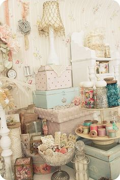 Pretty Floral Boxes for Storage...