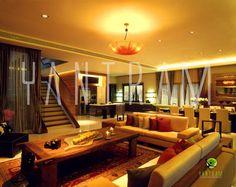 3D Classic Dining Room with Kitchen Interior Design Studio