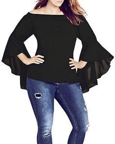 fe8e63c18a163 City Chic Plus Romantic Off-the-Shoulder Top Plus Size Dressy Tops