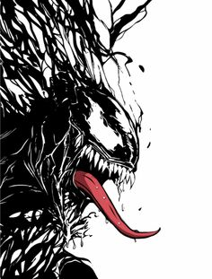 The heroic villain of the Marvel Universe. The not so appreciable symbiote but quite a powerful one. Venom Comics, Marvel Venom, Marvel Villains, Marvel Art, Marvel Heroes, Spiderman Art, Amazing Spiderman, Comic Books Art, Comic Art