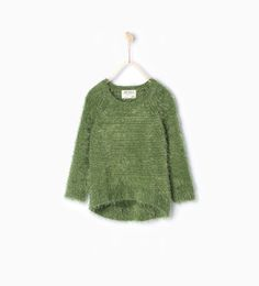 Image 1 of Furry knit sweater from Zara