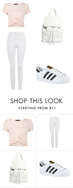 """Casual"" by rhianna-alexandre on Polyvore featuring New Look, Topshop, Mansur Gavriel and adidas"