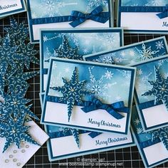 "89 Likes, 9 Comments - Bonnie Allers O'Neill (@bonniestamped) on Instagram: ""Finishing up a few Holiday Card Swaps with the new Star of Light Bundle! ❄️ #createwithbonnie…"""