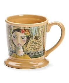 This mug from Kelly Rae Roberts says: Dear World, Thank you for the smallest moments that bring the greatest beauty.