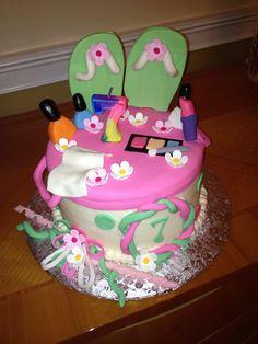 Girls Spa Theme Birthday Cake Favorite Places  Spaces - Spa birthday party cake