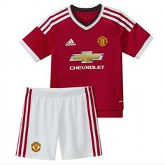 Günstige Manchester United 2015-16 Kinder Fußball Trikotsatz Heimtrikot