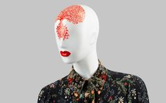 FUSION Collection by More Mannequins #FemaleMannequins #mask #illustration #flowerpattern #folk #art #collar