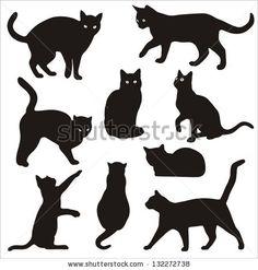 91 Awesome Black Cat Tattoos In Black Cat Tattoos Leg, 116 Minimalistic Cat Tattoos for Cat Lovers, Black Cat Tattoo Meaning Best Tattoo Ideas, Black Cat Tattoo Builder. Cat Profile, Black Cat Tattoos, Cat Quilt, Silhouette Vector, Black Cat Silhouette, Cat Silhouette Tattoos, Silhouette Images, Cat Crafts, Cat Drawing