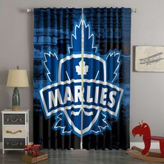 3D Printed Toronto Marlies Style Custom Living Room Curtains – Westbedding