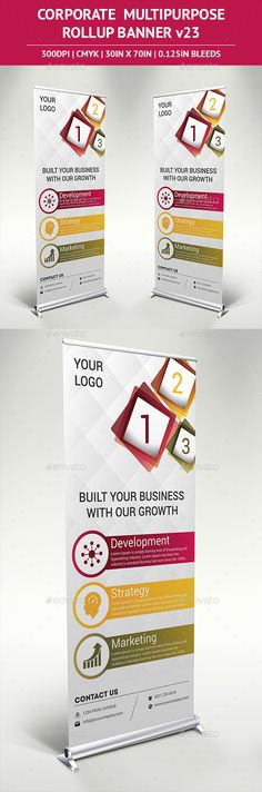 Rollup Banner Template #design Download: http://graphicriver.net/item/rollup-banner-vol-23/11458396?ref=ksioks