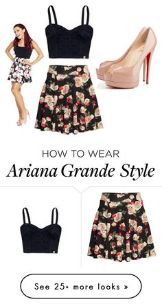 """Ariana Grande"" by persialuv on Polyvore featuring Hollister Co., H&M and Christian Louboutin"