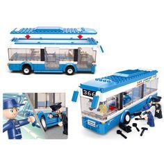 City Bus Sluban Monolayer Building Blocks DIY toys Educational toys for Children - Blocks