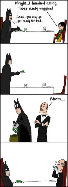Alfred - Batman's Dad authority figure