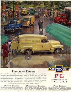 Chevrolet vintage truck / van ad
