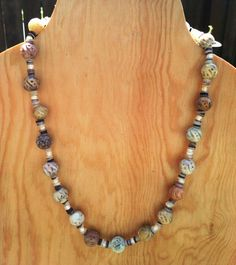 Shell and Soapstone Necklace by TripIntoLight on Etsy, $8.00