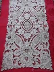 Image result for Cutwork Linen Guest Towels Aqua Gray Vintage Hand Embroidery