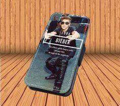 Justin Bieber for Leather Flip iPhone 4/4s Hard Case Cover Laser Technology #designyourcasebyme