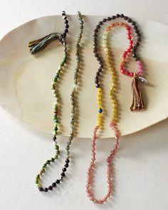 Garnet Hill's Chan Luu Multicolored Long Necklace's R simple yet elegant, I love D feminine color mixtures!