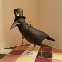 Steampunk Crow - in paper mache
