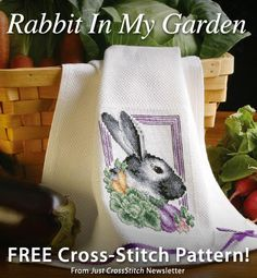 Rabbit In My Garden Download from Just CrossStitch newsletter. Click on the photo to access the free pattern. Sign up for the newsletter here: AnniesNewsletters.com