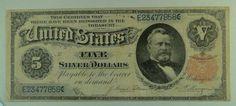 US Bill 1891 $5 Silver Certificate (Grant) Note