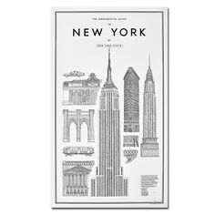 DAVID EHRENSTRAHLE - PRINT THE MONUMENTAL GUIDE TO NEW YORK
