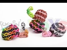 Rainbow Loom 3D SNAIL Charm (Advanced). Can also be used for a SPIRAL or MUSHROOM.  Designed and loomed by Rob at Justin's Toys with techniques by Ellen Carpenter at feelinspiffy. Click photo for YouTube tutorial. 05/08/14.