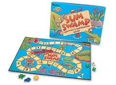 Sum Swamp Addition and Subtraction Game by Learning Resources, http://www.amazon.com/dp/B00004TDLD/ref=cm_sw_r_pi_dp_l2ULqb0RTK39C - for Oliver
