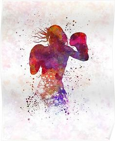 Brick Discover woman boxer boxing kickboxing silhouette isolated 02 Poster by paulrommer Kickboxing Quotes, Kickboxing Women, Kickboxing Workout, Jana Wall, Kick Boxing Girl, Boxing Boxing, Karate, Boxing Workout Routine, Muay Thai