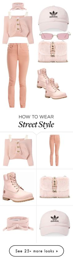"""Street Style #5"" by shardet28 on Polyvore featuring RED Valentino, RE/DONE, Timberland, Valentino, adidas, Gentle Monster, contestentry and polyPresents"